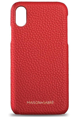 iphone xr phone case- red- front