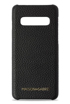 samsung s10 phone case- black- front