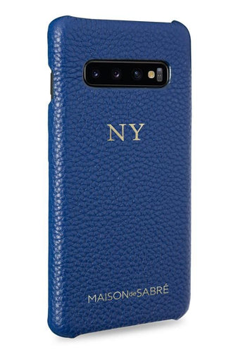 samsung s10 phone case- blue- perspective
