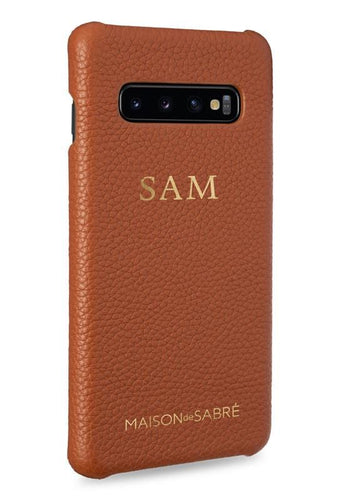 samsung s10 phone case- brown- perspective