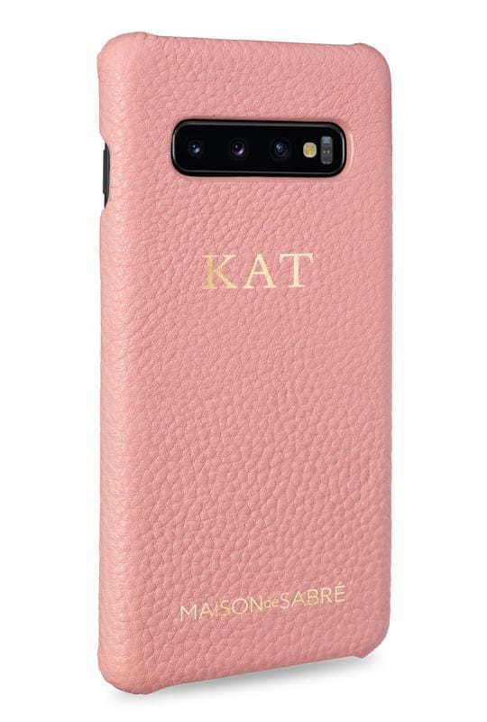 samsung s10 phone case- pink- perspective