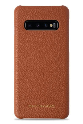 samsung s10 plus phone case- brown- front