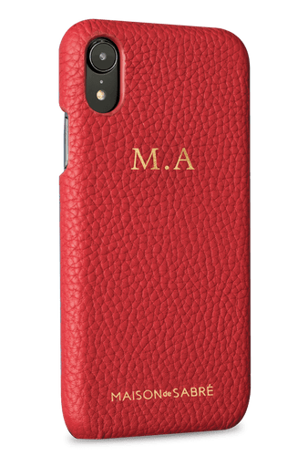 iphone xr phone case- red- perspective