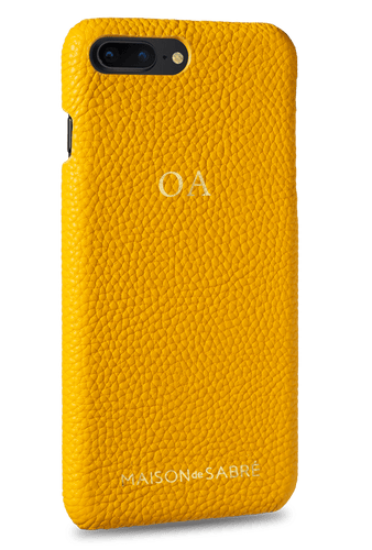 iphone 7/8 plus phone case- yellow- perspective