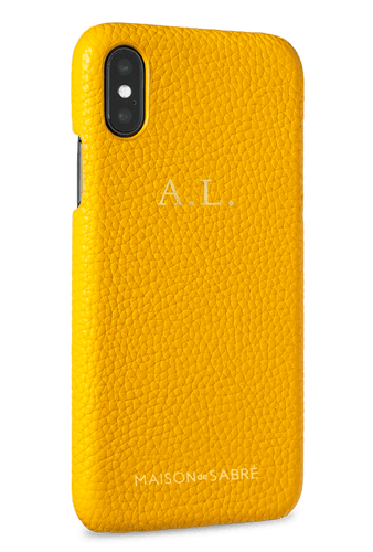 iphone x/xs phone case- yellow- perspective