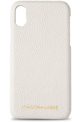 iphone x/xs phone case- white- front