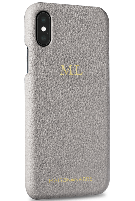 iphone xs max phone case- grey- perspective