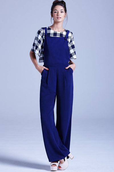 Navy Dungarees - Eighty7 Boulevard