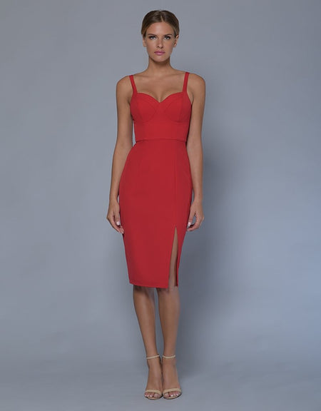 Stand Out V-Neck Bodycon Dress