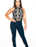 Lace in Paris Crop Top - Eighty7 Boulevard