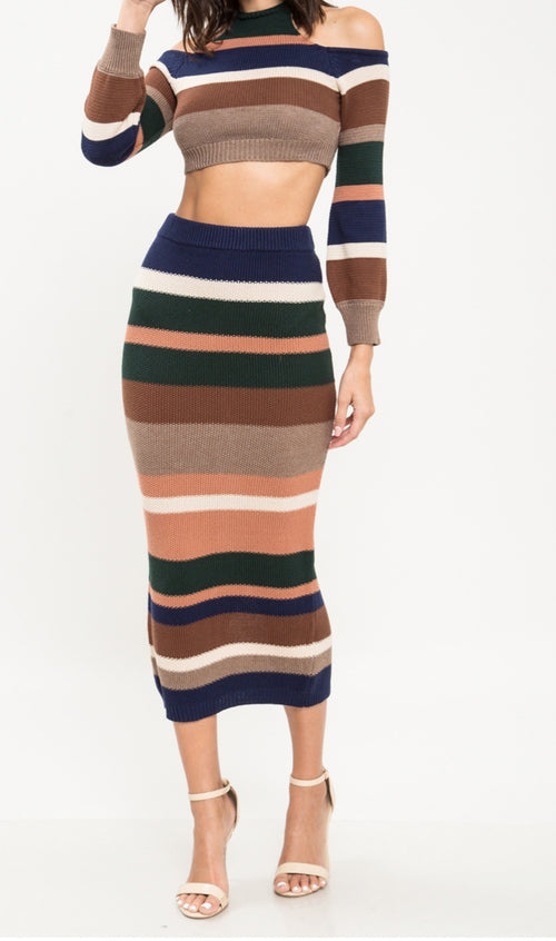 Autumn Stripes set - Eighty7 Boulevard
