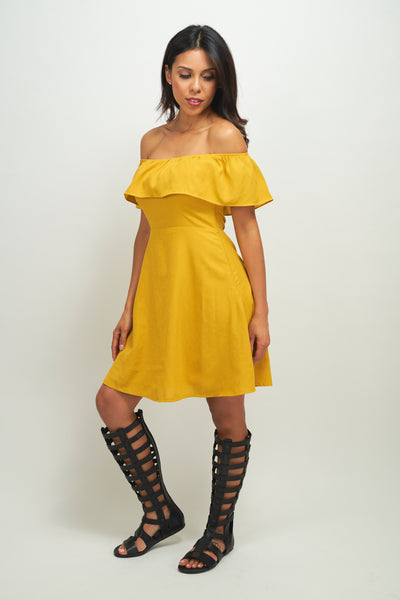 Off the Shoulder Courtney Dress - Eighty7 Boulevard