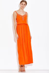 Orange Flame Dress - Eighty7 Boulevard