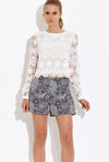Polly Crochet Top - Eighty7 Boulevard