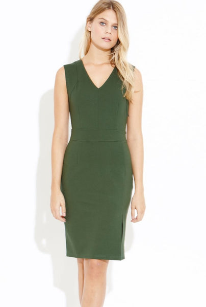 Stand Out V-Neck Bodycon Dress - Eighty7 Boulevard