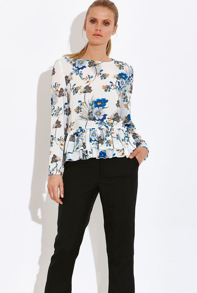 Verona Print Floral Top - Eighty7 Boulevard