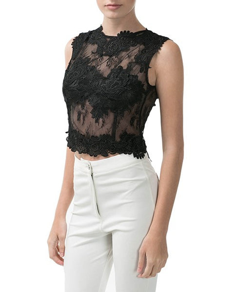 Lace Crop top - Eighty7 Boulevard