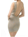 Low Back Shimmer Dress - Eighty7 Boulevard