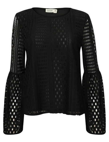 Belle Black Blouse - Eighty7 Boulevard