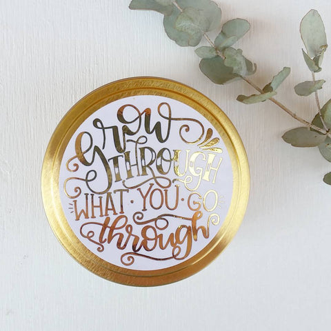 Affirmation Travel Candle - Grow through what you go through