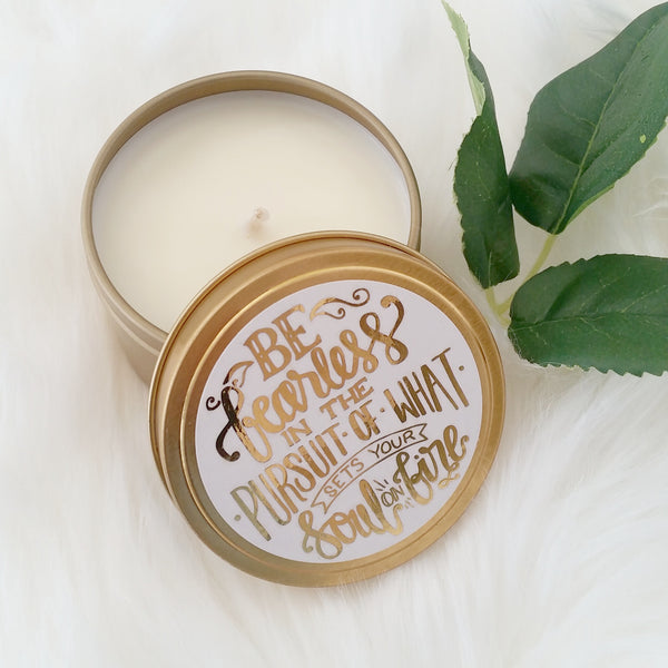 Affirmation Travel Candle - Be Fearless