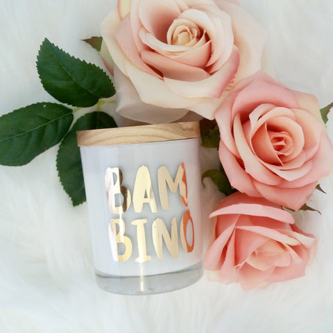 Bambino Rose Gold Foil Gift Candle