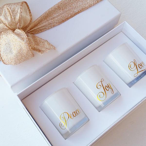 Peace, Love & Joy Christmas Trio Gift Set