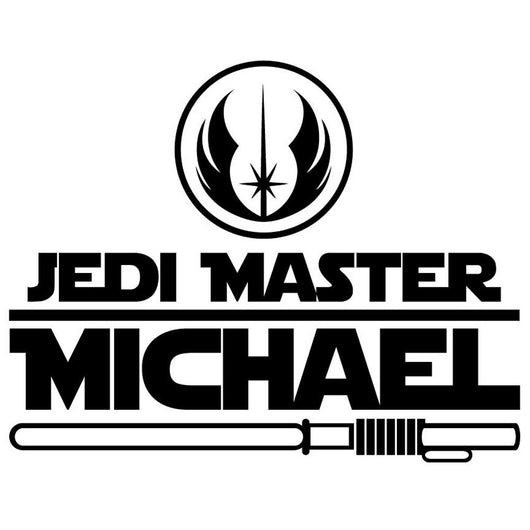 Jedi Master Custom Vinyl Decal Bad Fish Custom - Custom vinyl decal