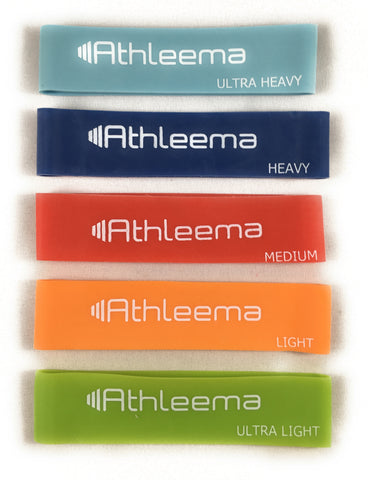 Athleema Expand-Your-Hand Bands. Set of 5 Resistance Levels. Say Goodbye to Tennis Elbow and Other Arm or Wrist Pain.