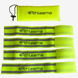 Athleema Reflective Arm/Leg Bands, Elastic, Set of 4