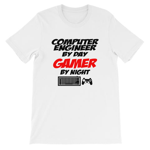 Computer Engineer By Day Gamer By Night Short-Sleeve Unisex T-Shirt
