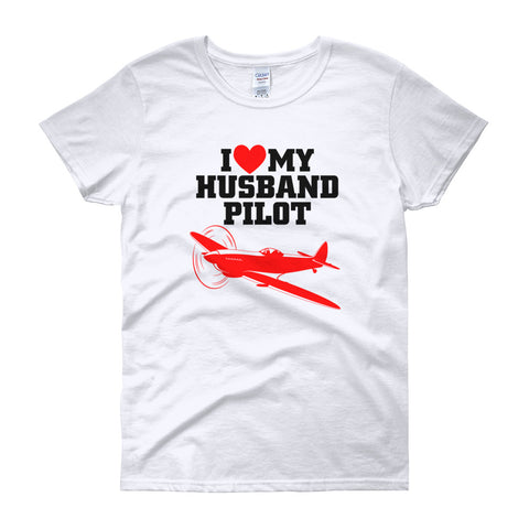 I Love My Husband's Pilot Women's short sleeve t-shirt