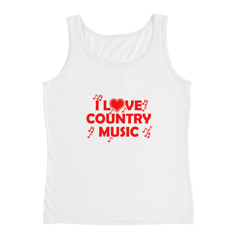 I love Country Music Ladies' Tank