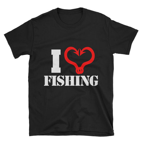 I Love Fishing Short-Sleeve Unisex T-Shirt