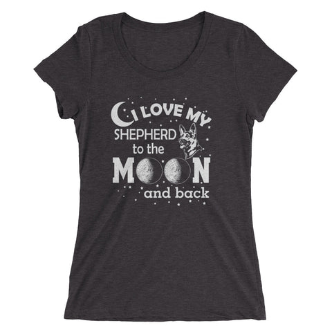 I Love my Shepherd to the Moon and Back Ladies' short sleeve t-shirt