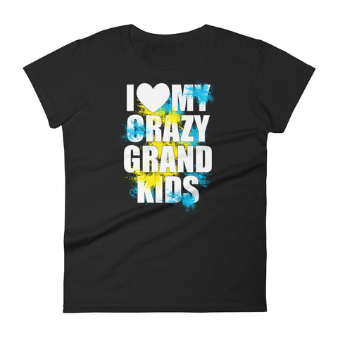 I Love Crazy Grand Kids Women's short sleeve t-shirt
