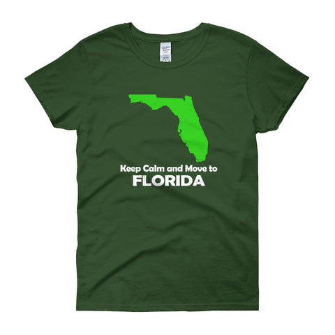 Keep Calm and Move to Florida Women's short sleeve t-shirt