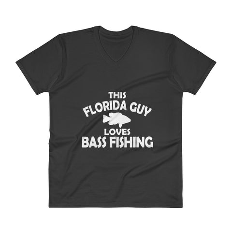 This Florida Guy Loves Bass Fishing V-Neck T-Shirt