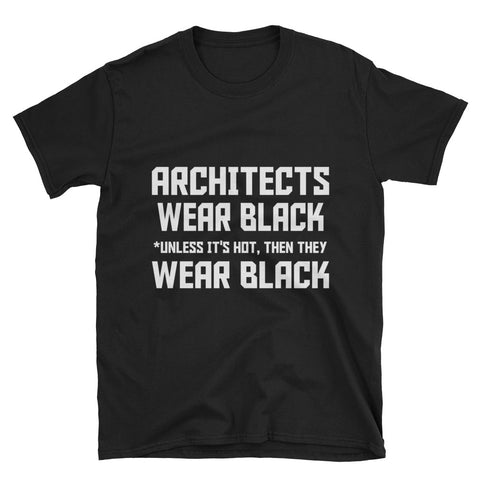 Architects Wear Black Short-Sleeve Unisex T-Shirt