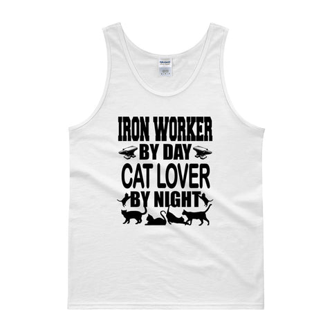 Iron Worker by Day, Cat Lover by Night Tank top