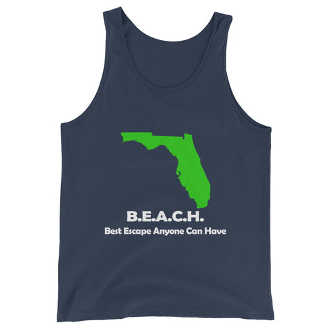 BEACH Best Escape Anyone Can Have Unisex  Tank Top