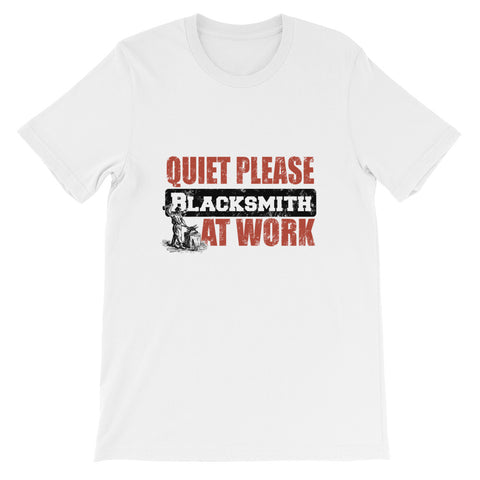 Quiet Please Blacksmith at Work Short-Sleeve Unisex T-Shirt