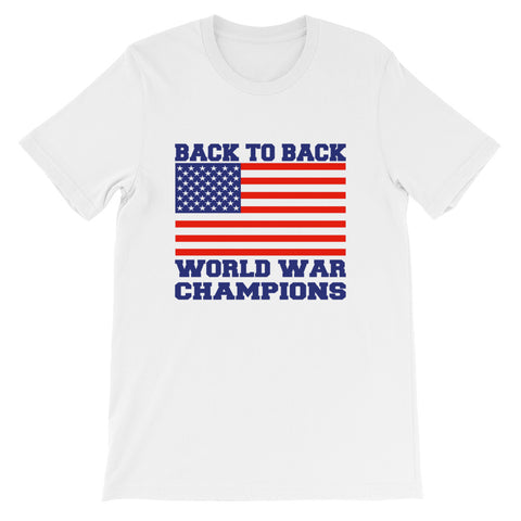 Back to Back World War Champions Short-Sleeve Unisex T-Shirt