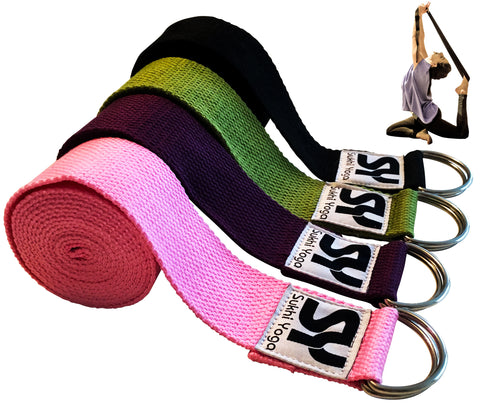 Sukhi Yoga Strap, 8 feet, Extra Soft with D-Ring
