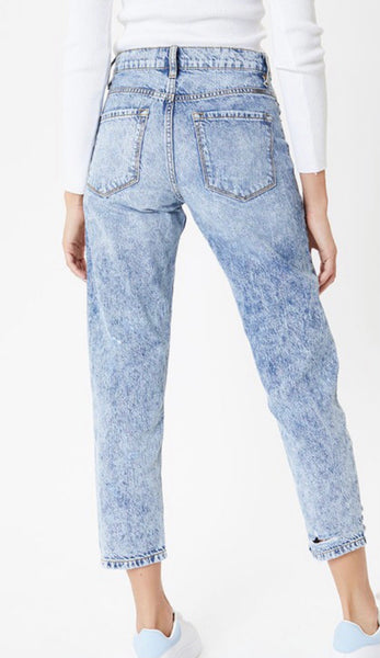 Acid Washed Mom Jeans Kan Can Shop The White Feather