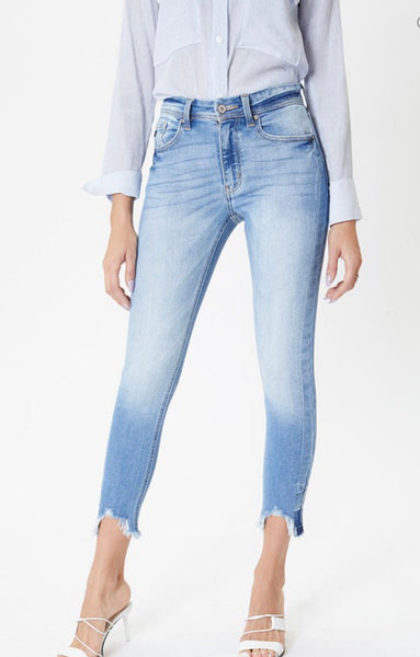 Rosa light wash high rise denim - Kan can