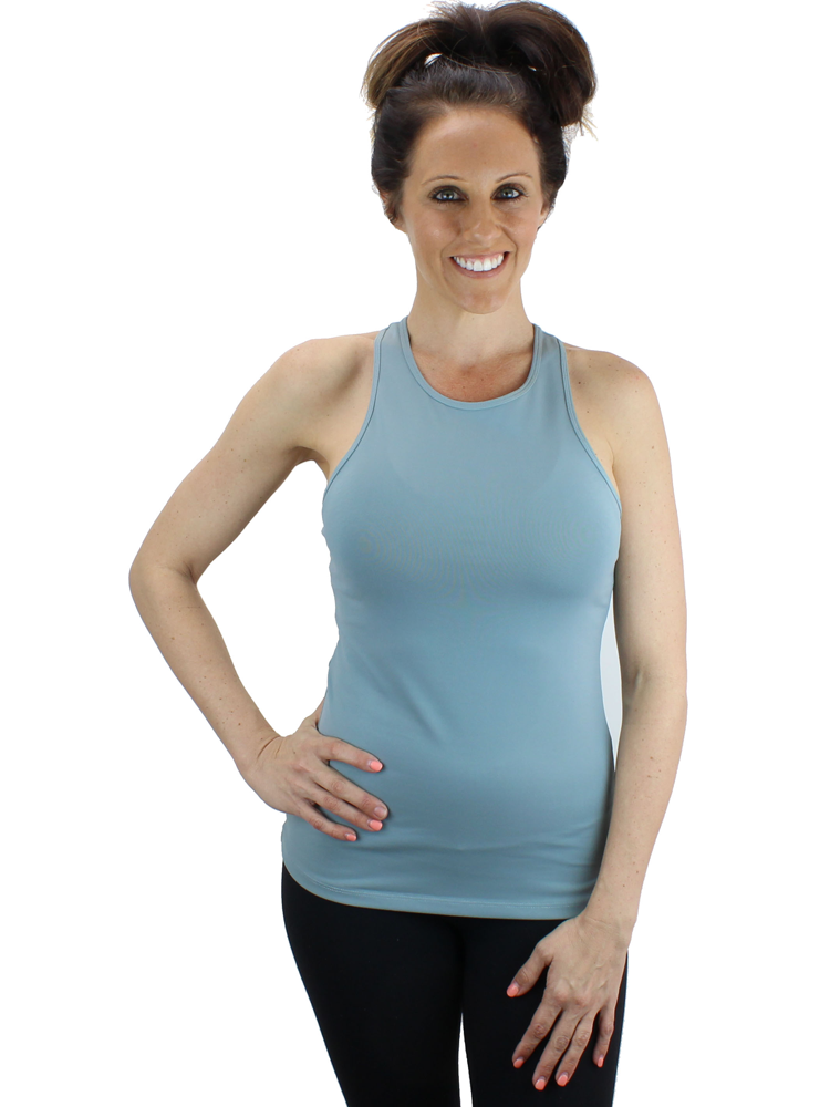 High Neck Fitted Gym/Yoga Tank