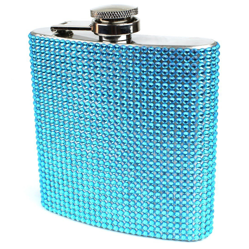 Stainless Steel 6oz Bling Flask