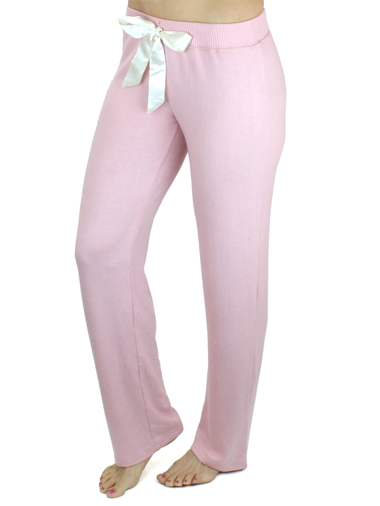 Ultra Soft Sweatpants with Satin Bow