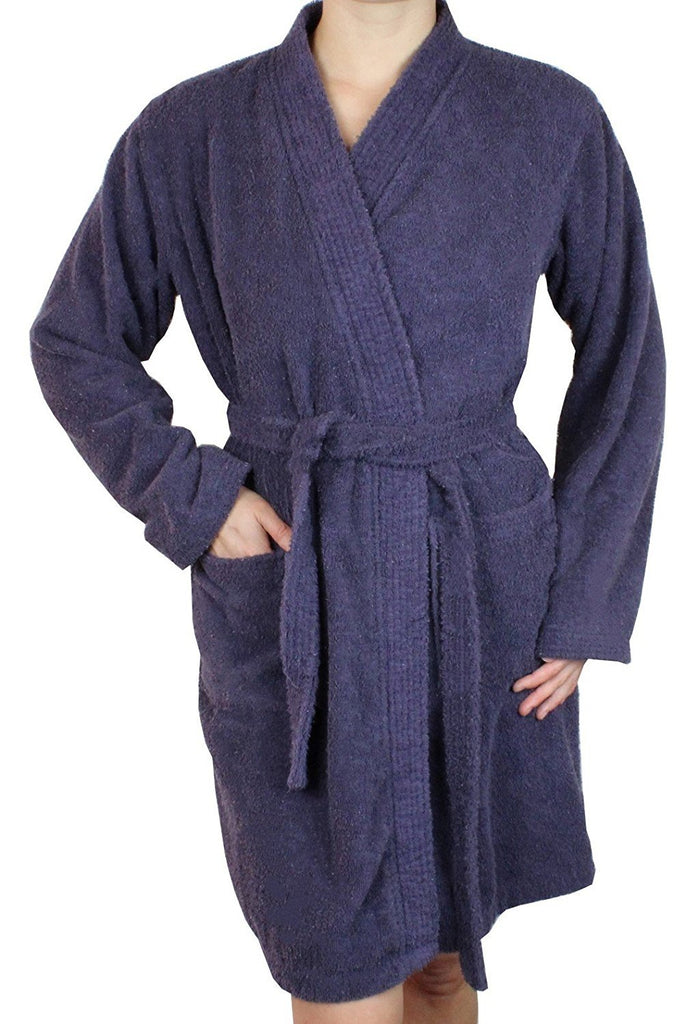 Women's Short Terry Cloth Long Sleeve Robe